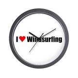 I love windsurfing Wall Clock