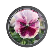 Pink Pansy Wall Clock
