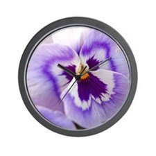 Purple Pansy Wall Clock