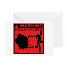 Science In Progress (red) Greeting Card