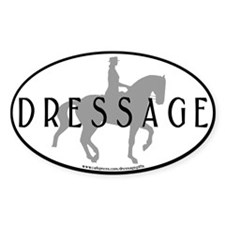 Piaffe w/ Dressage Text Oval Decal