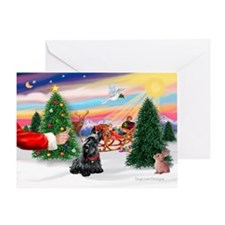SantasTreat/Scottie #4 Greeting Card