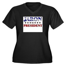 JARON for president Women's Plus Size V-Neck Dark