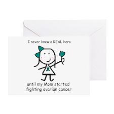 Teal Ribbon - Hero Mom Greeting Card