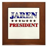 JAREN for president Framed Tile