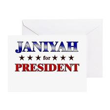JANIYAH for president Greeting Card
