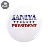 "JANIYA for president 3.5"" Button (10 pack)"
