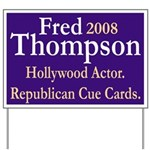Hollywood Fred Thompson Yard Sign