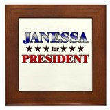 JANESSA for president Framed Tile