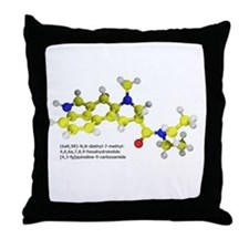 LSD Molecule Throw Pillow