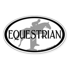 Hunter Jumper O/F (Equestrian text) Oval Decal