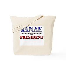 JANAE for president Tote Bag
