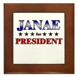 JANAE for president Framed Tile