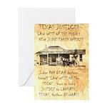 Judge Roy Bean Greeting Card