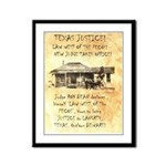 Judge Roy Bean Framed Panel Print