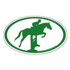 Hunter Jumper O/F (hunter green) Oval Decal
