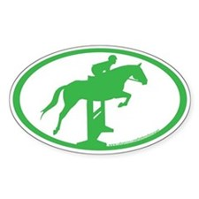 Hunter Jumper O/F (kelly green) Oval Decal