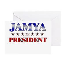 JAMYA for president Greeting Card