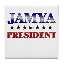 JAMYA for president Tile Coaster