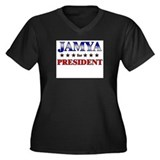 JAMYA for president Women's Plus Size V-Neck Dark