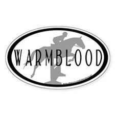 Hunter Jumper O/F (Warmblood text) Oval Decal