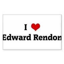 I Love Edward Rendon Rectangle Decal