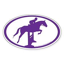 Hunter Jumper Over Fences( purple) Oval Decal