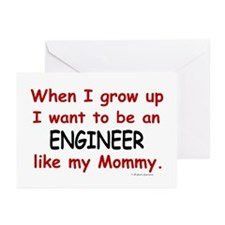 Engineer (Like My Mommy) Greeting Cards (Pk of 10)