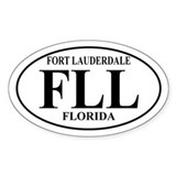 FLL Fort Lauderdale Oval Decal