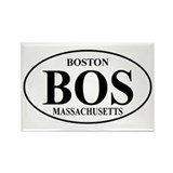 BOS Boston Rectangle Magnet
