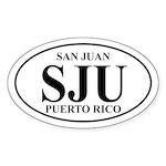 SJU San Juan Oval Sticker