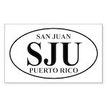 SJU San Juan Rectangle Sticker