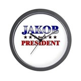JAKOB for president Wall Clock