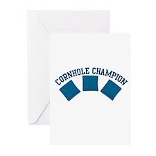 Cornhole Champion Greeting Cards (Pk of 10)