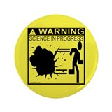 "Science In Progress (yellow) 3.5"" Button (100 pack"