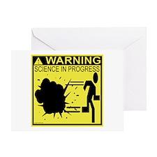 Science In Progress (yellow) Greeting Card