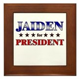JAIDEN for president Framed Tile