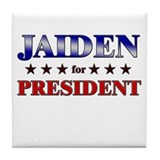 JAIDEN for president Tile Coaster