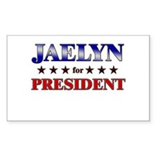JAELYN for president Rectangle Decal