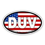 "Daughters of the Union Veterans ""DUV"" Oval  Aufkleber"