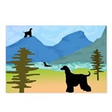 Wild River Afghan Hounds Postcards (Package of 8)