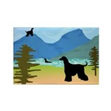 Wild River Afghan Hounds Rectangle Magnet