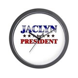 JACLYN for president Wall Clock