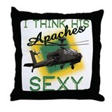 His Apaches Sexy Throw Pillow