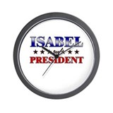 ISABEL for president Wall Clock