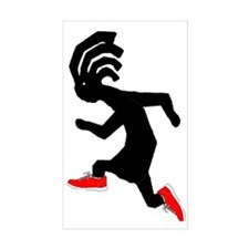 Kokopelli Runner Rectangle Decal