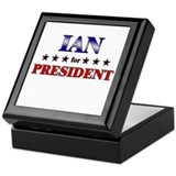 IAN for president Keepsake Box