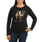 Stylized Camel Women's Long Sleeve Dark T-Shirt