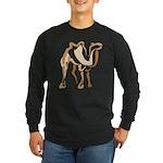 Stylized Camel Long Sleeve Dark T-Shirt