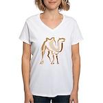 Stylized Camel Women's V-Neck T-Shirt